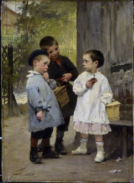 Give Me A Bite, 1883 (oil on canvas)