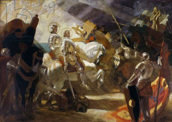 Eternal Victory, 'Brute force cannot prevail against the ideals of justice and freedom', 1911 (oil on canvas)