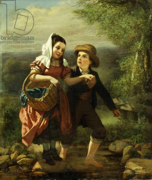 The Picnic, 1861 (oil on board)