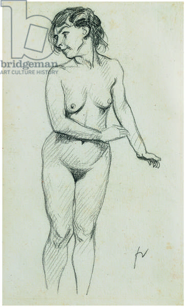 Standing nude (pencil on paper)