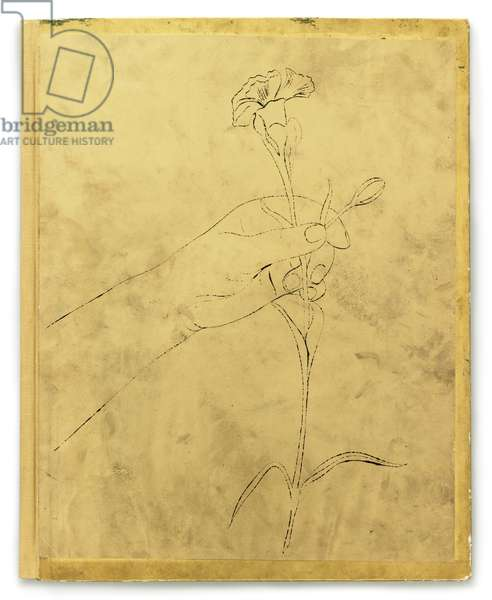 A Gold Book, 1957 (litho with hand colouring on gold paper)