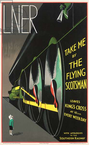 A LNER poster advertising the 'Flying Scotsman', 1932 (colour lithograph)