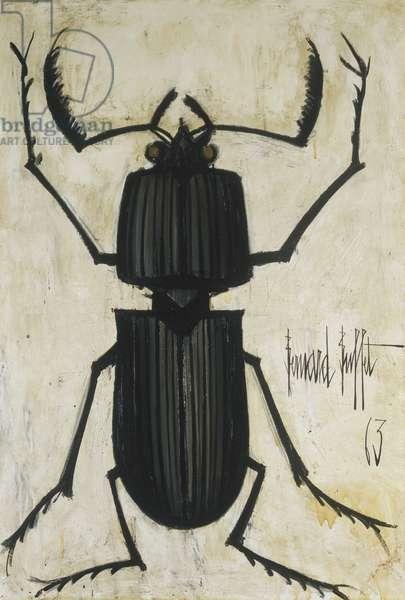 The Beetle; La Scarabee, 1963 (oil on canvas)