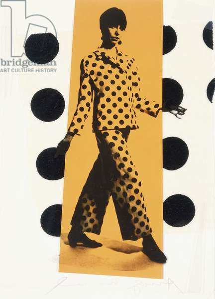 Untitled (Barbara Feldon), 1966 (offset lithograph on acetate film, paper, fabric, foamcore and c)