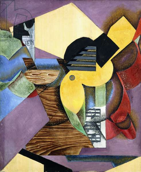 Guitar, 1913 (oil and papier colle on canvas)