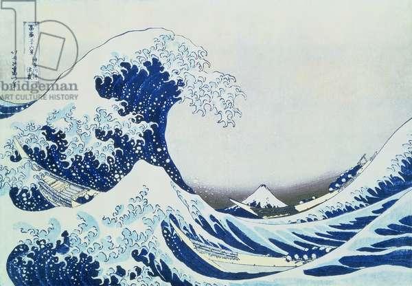 The Great Wave off Kanagawa, from the series '36 Views of Mt.Fuji' ('Fugaku sanjuokkei') pub. by Nishimura Eijudo, 1831 (colour woodblock print)