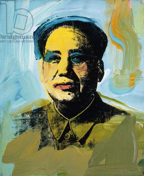 Mao, 1973 (synthetic polymer, acrylic and silkscreen inks on canvas)