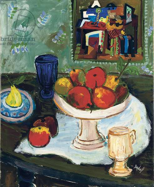 Beautiful fruit; Les beaux fruits, 1968 (oil on card laid down on canvas)