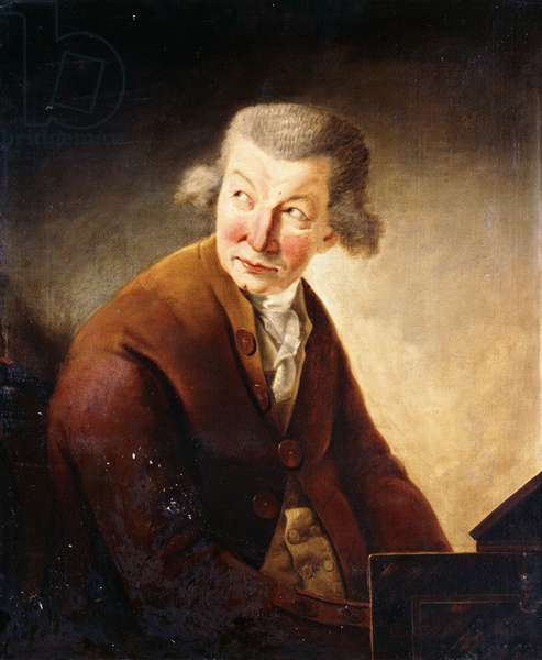 Portrait of a Gentleman, identified as Franz Joseph Haydn, half-length, at a Pianoforte (oil on canvas)