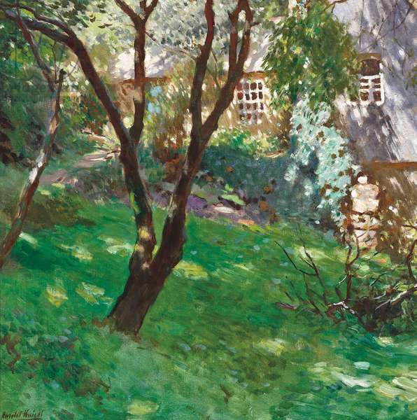 In the garden, Summer (oil on canvas)