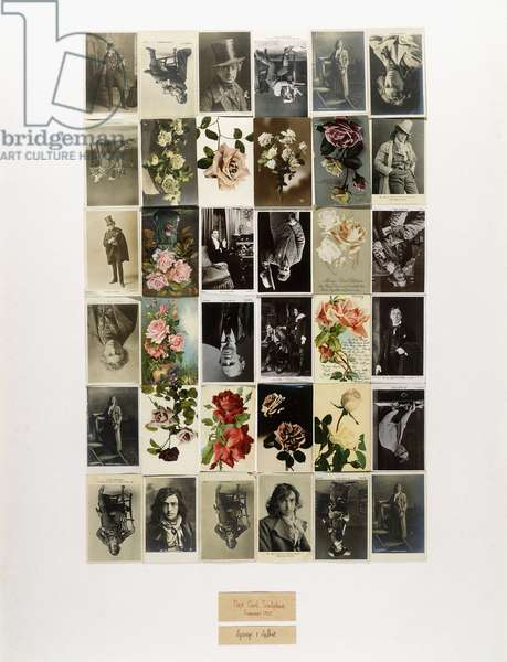 Post Card Sculpture, 1975 (36 postcards mounted on paperboard)