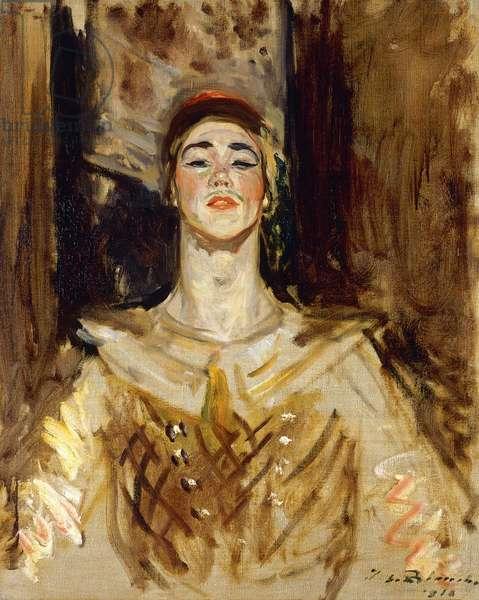 Nijinsky in Les Orientales, 1912 (oil on canvas)