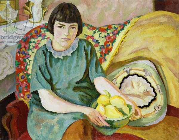 Portrait of Zoum Van den Eeckhoudt, 1915 (oil on canvas)