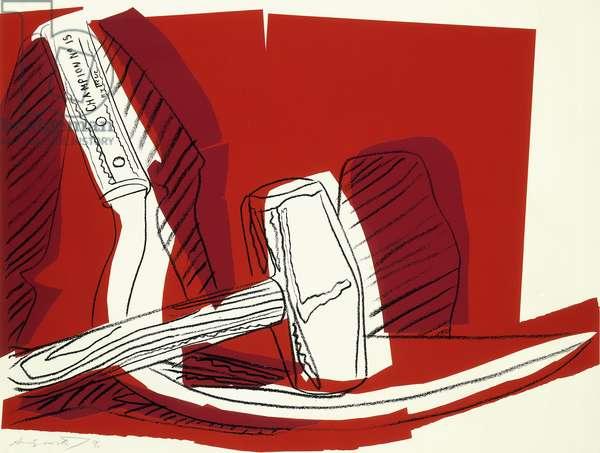 Hammer and Sickle: One Plate, 1977 (screenprint)