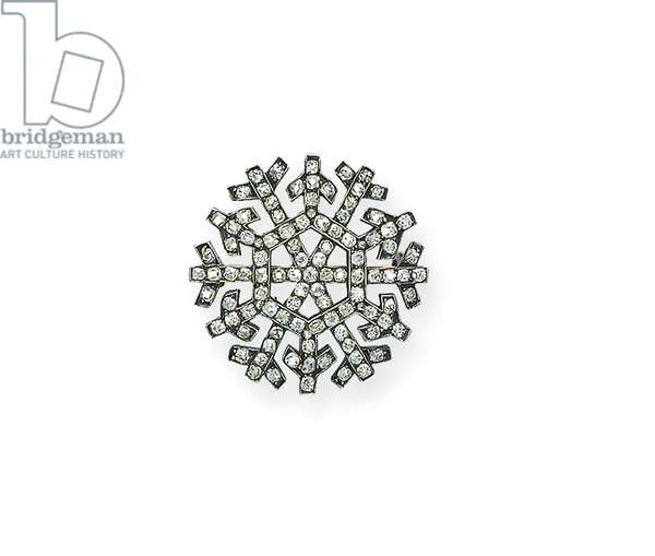 'Snowflake' brooch, c.1913 (gold & diamonds)