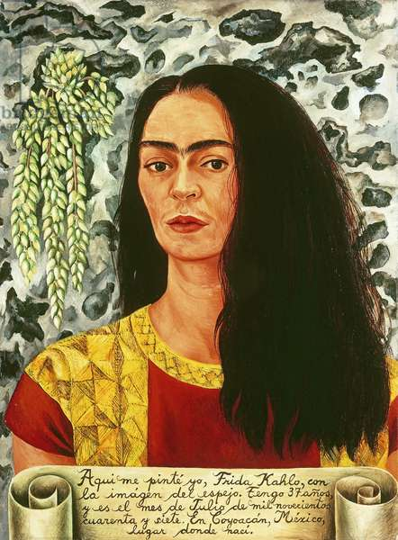 Self-portrait with Loose Hair; Autorretrato con Pelo Suelto, 1947 (oil on masonite)