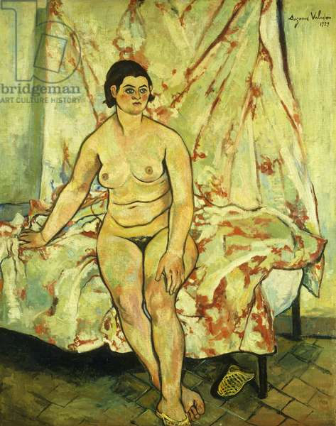 Nude Sat on the Edge of a Bed; Nu Assis sur le Bord d'un Lit, 1929 (oil on canvas)