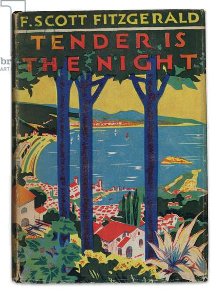 Cover of first edition of 'Tender is the Night' by F. Scott Fitzgerald, 1934 (cloth-bound volume with dust jacket)