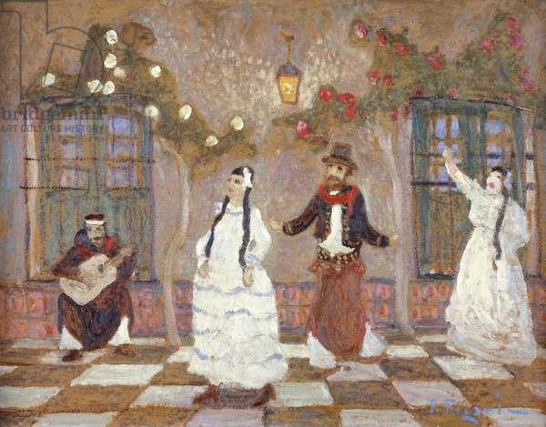 The Chacarera (Argentinian Folk Dance),  (oil on panel)