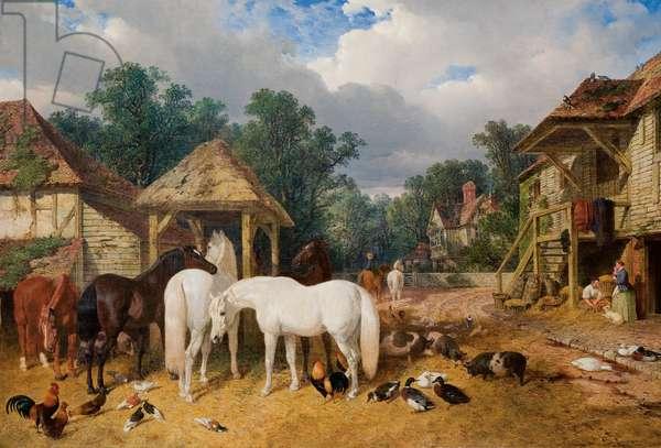The Farmyard, 1860 (oil on canvas)