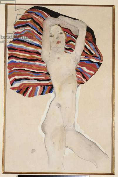 Act Against Coloured Material, 1911 (w/c, gouache & pencil on paper laid down on paper)