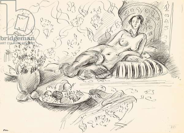Odalisque Etendue II, c.1927 (pen and ink on paper)