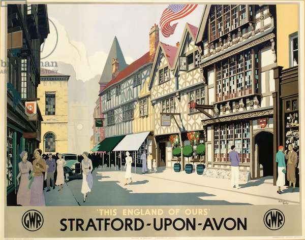 'Stratford-Upon-Avon', poster advertising the Great Western Railway (colour litho)