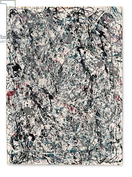 Number 19, 1948 (oil & enamel on paper mounted on canvas)