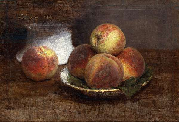 The Bowl of Peaches; Le Bol de Peches, 1869 (oil on canvas)