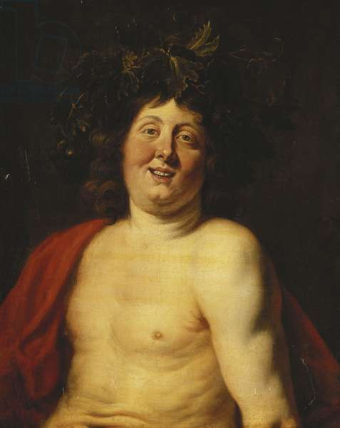 The Young Bacchus, (oil on canvas)