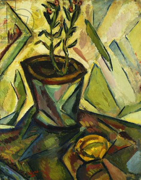 Plant with Lemon; Plante avec Citron, 1916 (oil on board laid down on board)