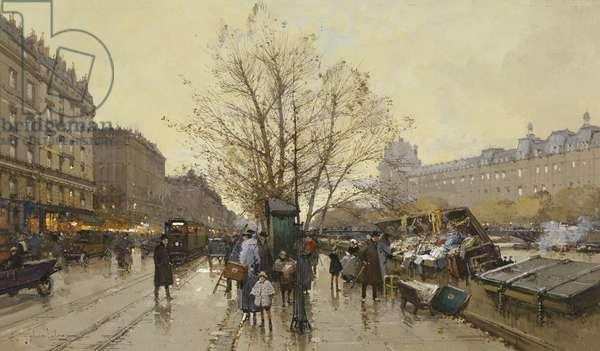 The Docks of Paris; Les Quais a Paris,  (gouache)