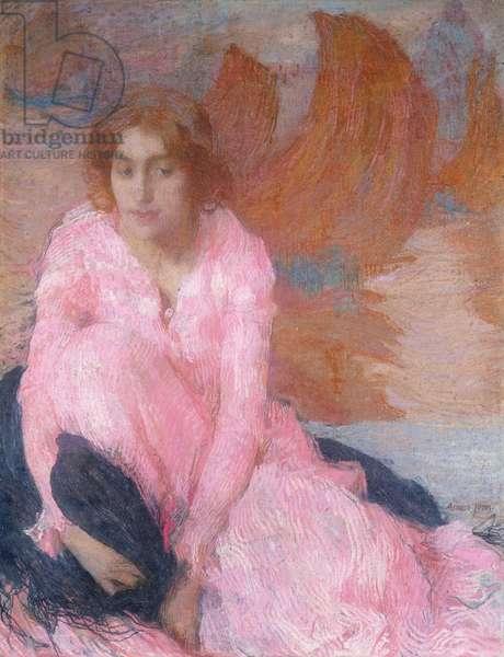 The Pink Dress; La Robe Rose, c.1898 (pastel)
