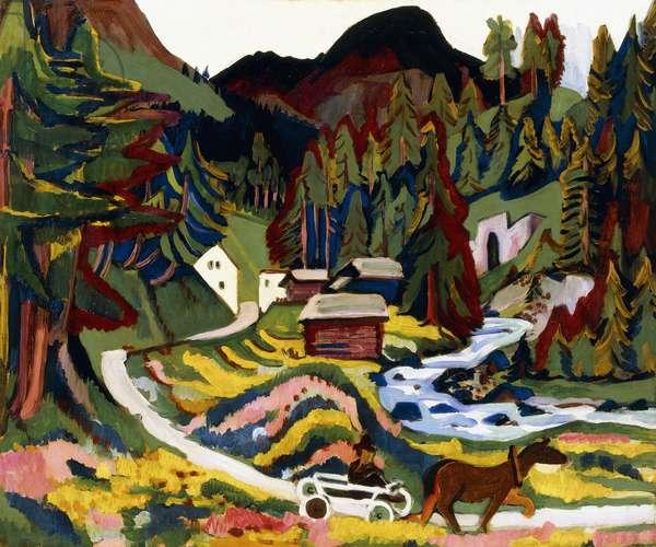 Landscape in Spring, Sertig, 1924-25 (oil on canvas)
