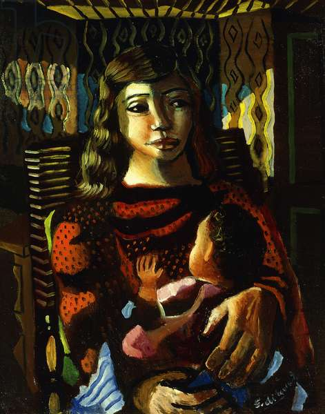 Maternity; Maternidad, c.1949 (oil on canvas)