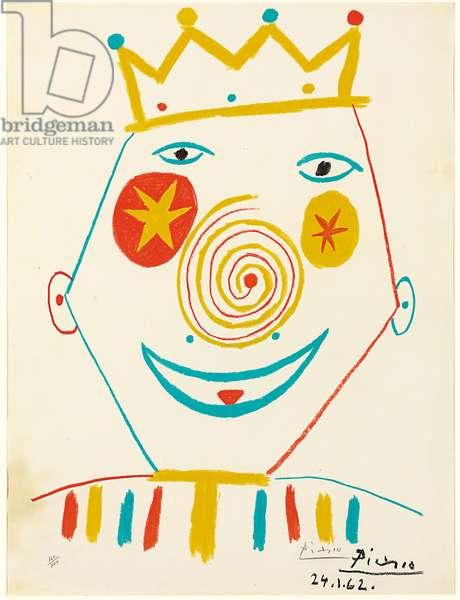Clown, 1962 (colour litho)