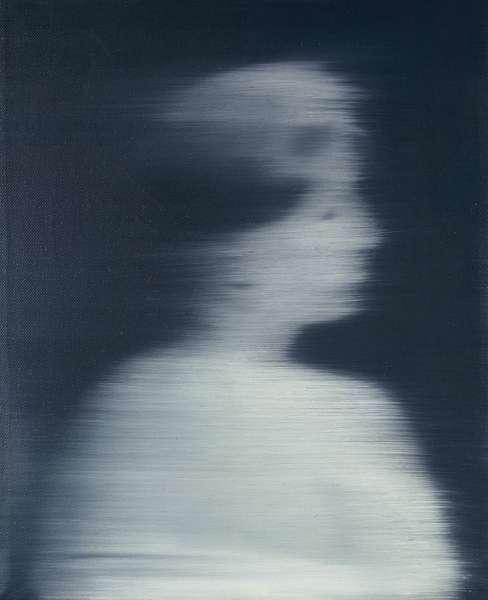 Female Head in Profile; Kleiner Frauenkopf im Profil, 1996 (oil on canvas)