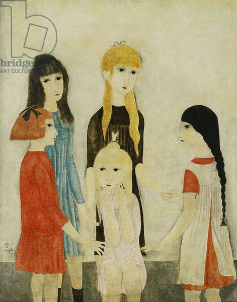 Five Girls, Brunettes, Blondes and Red Hair; Cinq Fillettes, Brunes, Blondes et Rousse, 1918-20 (oil on canvas)
