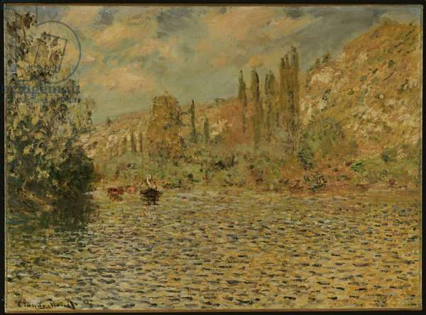 The Seine at Vetheuil (oil on canvas)