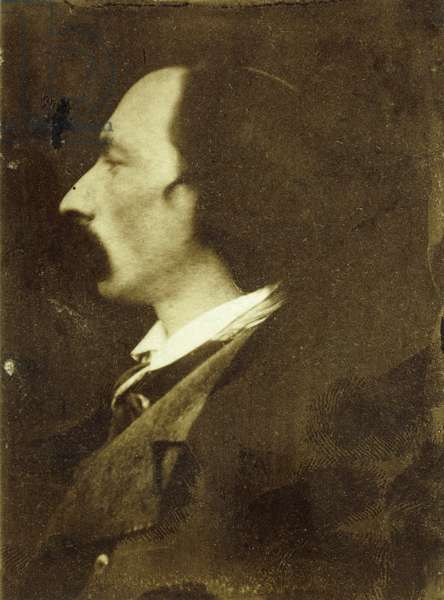 Portrait of Auguste Vacquerie (salt and albumen print and other media)