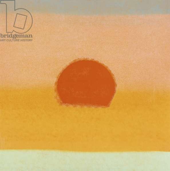 Sunset, 1972 (colour screenprint)