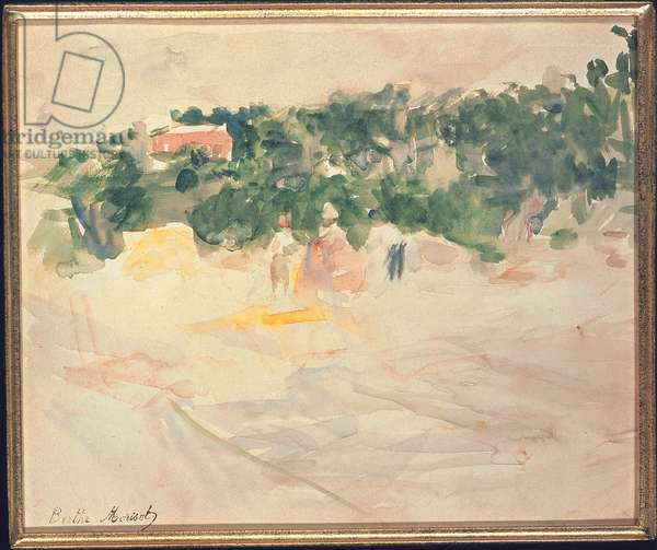 La moisson à Bougival, 1882 (w/c on paper)