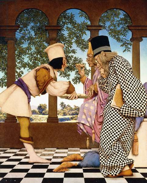 The Knave of Hearts - The King Samples the Tarts, 1924 (oil on paper)