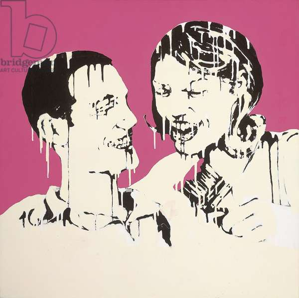 If Only You Enjoyed Sex as Much as You Enjoy Furniture Shopping, 2006 (spray enamel and emulsion on canvas)