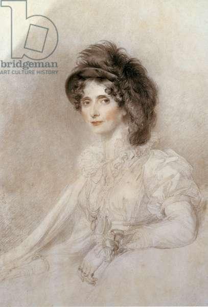 Portrait of Elizabeth, Duchess of Devonshire, 1816 (pencil & chalk on paper)