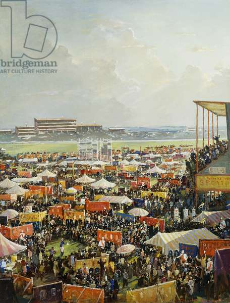 Derby Day, (oil on canvas)