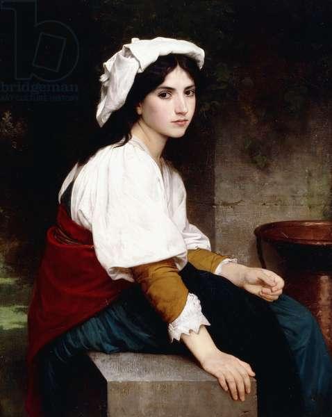 Italian Girl by a Fountain, 1870 (oil on canvas)