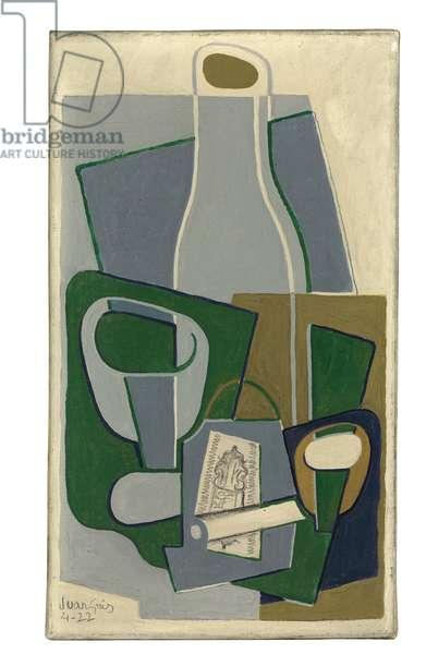 Pipe et Paquet de Tabac, 1922 (oil on canvas)