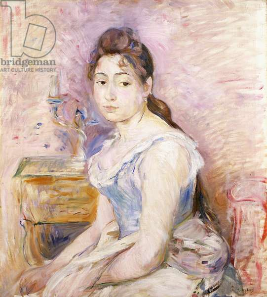 Young Woman in a Blue Corset; Jeune Fille au Corset Bleu, 1891 (oil on canvas)