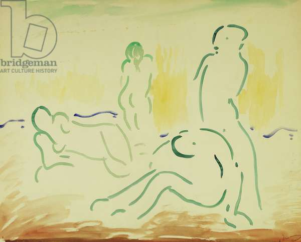 Bathers; Baigneuses, 1905 (watercolour on paper)